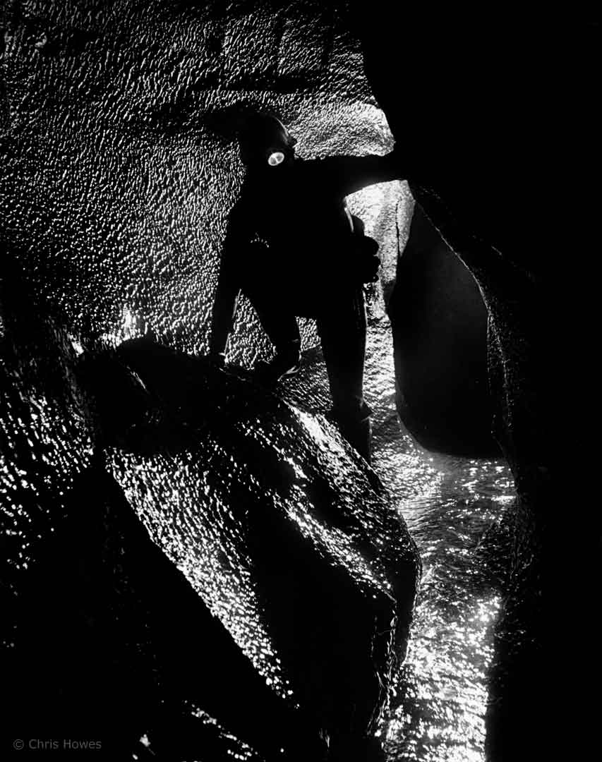 Top Waterfall, Ogof Ffynnon Ddu