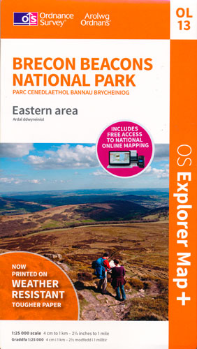 Brecon Beacons (Eastern area) OS map, 2014