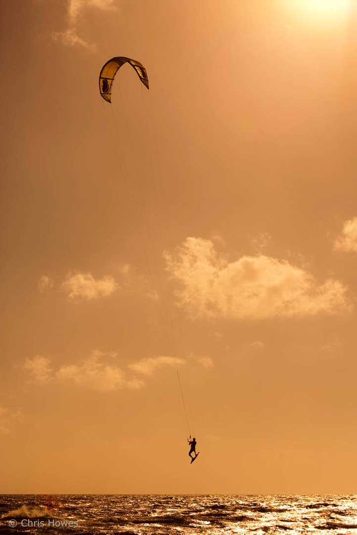 Kitesurfing, Harlingen, Netherlands