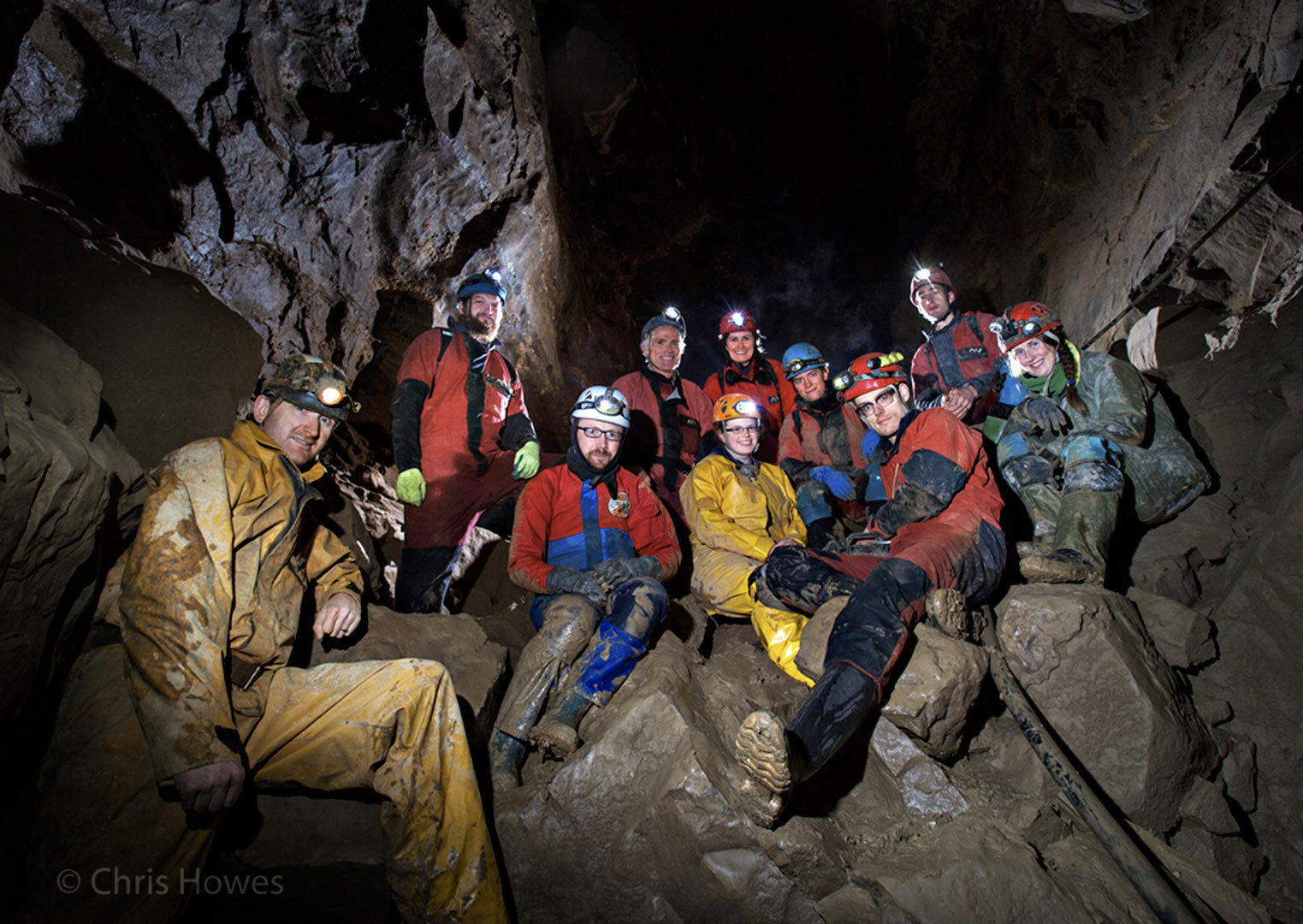 Ailwee Cave group photo, Co. Clare, Ireland