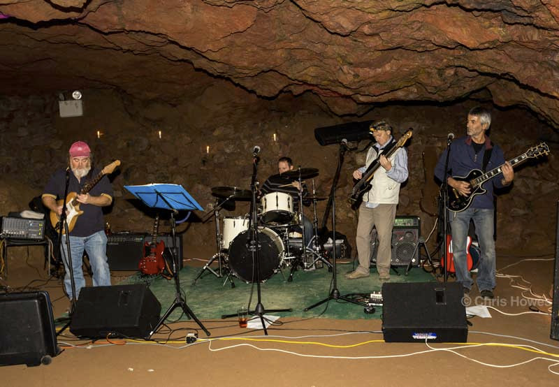 The band at Clearwell Caves