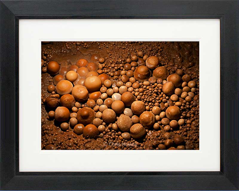 Black framed print
